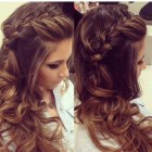 Hairstyles for long hair for wedding guest