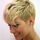 Short hair cut female