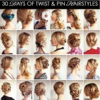 Styles of hairstyles