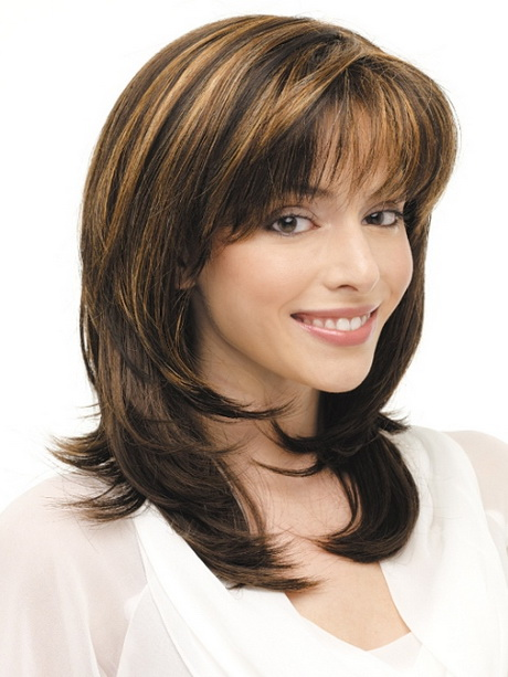 styling medium length layered hair shoulder length layered haircuts 2015 8751