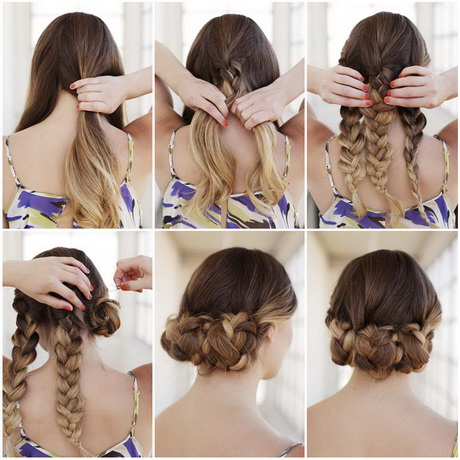 easy hair up styles to do yourself step by step braided hairstyles with pictures 5520