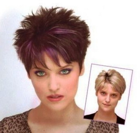 pictures of short spiky haircuts front and back short