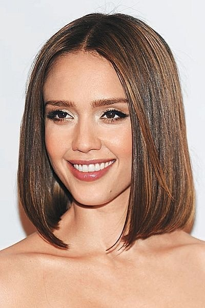 above the shoulder haircuts medium all one length hairstyles 1178