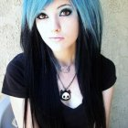 Black and blue hairstyles