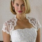Bridal hairstyles for bobbed hair