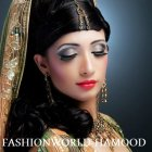 Bridal makeup with hairstyle
