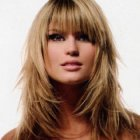 Haircuts for long hair with bangs and layers