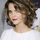 Hairstyle for short wavy hair
