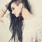 Semi shaved hairstyles for women