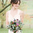 Short curly bridal hairstyles