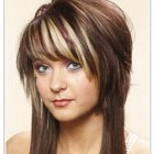 Short hairstyles with long layers