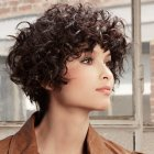 Thick curly short hairstyles
