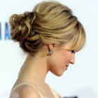 Up hairstyles for shoulder length hair