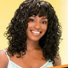 Curly fringe hairstyles