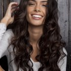 Curly or wavy hairstyles