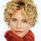 Curly short hairstyles women