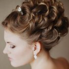 Curly updo hairstyles for weddings