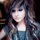 Emo curly hairstyles