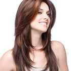 Hairstyle on long hair