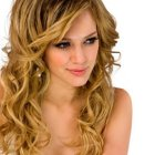 Long hairstyles with curls