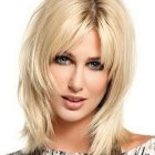 Medium style haircuts with layers