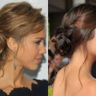 Messy updo prom hairstyles