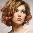 Short hairstyles with curls