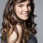 Straight and curly hairstyles