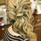 Prom hairstyles to the side
