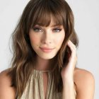 Hairstyles with bangs 2020