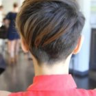 Short haircuts from the back