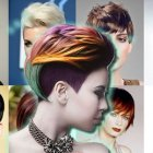 Short hairstyles and colours 2018