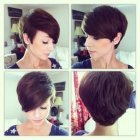 Pixie cut front and back