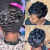 Black short curly hairstyles 2019