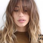 Long hairstyles with a fringe 2019