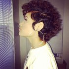 Short curly hairstyles for women 2019
