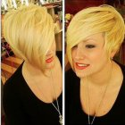 Short asymmetrical haircuts