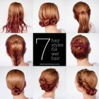 7 hairstyles for wet hair