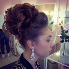 Big updos for long hair
