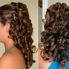 Curly updos for long hair
