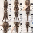 Cute easy updos for thick hair