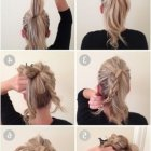 Easy casual hair updos