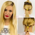Easy straight hair updos