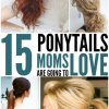 Hairstyles ponytails long hair