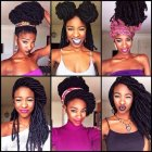 Hairstyles you can do with box braids