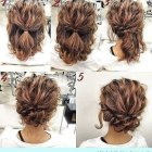 Long curly hair updos easy