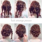 Long thick curly hair updos