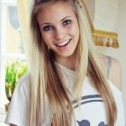 Simple everyday hairstyles for long straight hair
