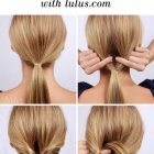 Straight hair updos easy