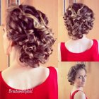 Updo hairstyles for thick curly hair